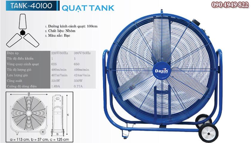 Quạt công nghiệp Dasin Tank-40100