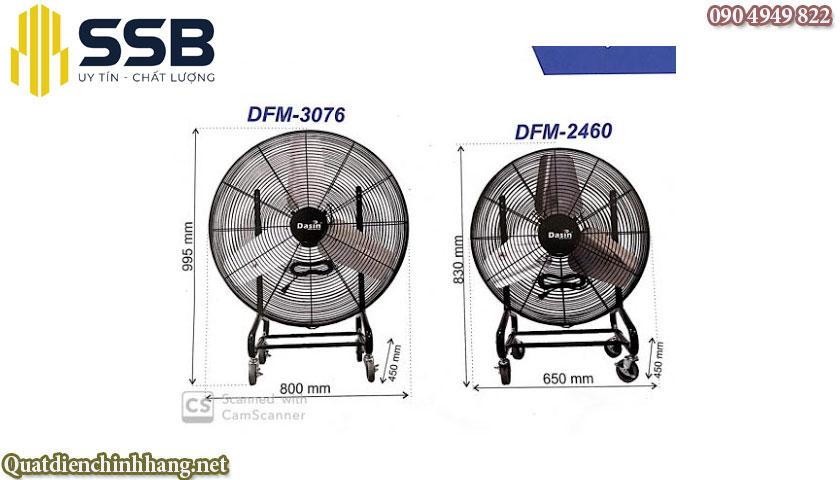 Quạt làm mát di động Dasin DFM-2460