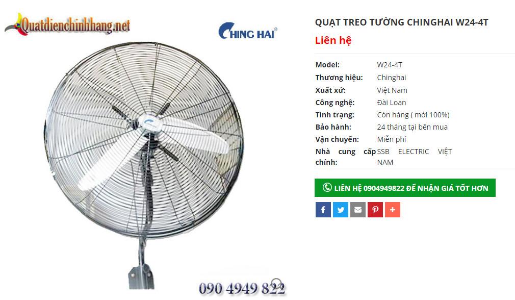 quat cong nghiep chinghai w24 4t