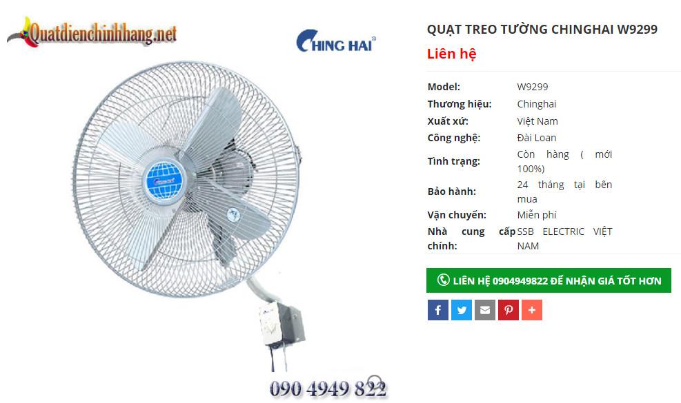 quat cong nghiep chinghai w9299