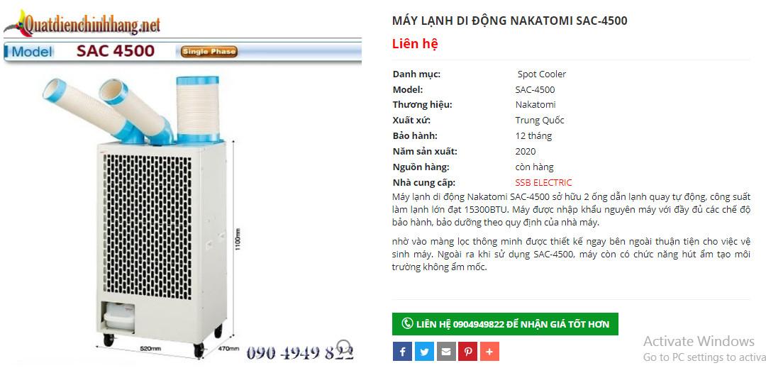 máy lạnh di động công nghiệp