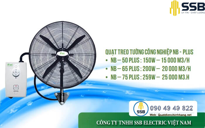 quat cong nghiep treo ifan nb 75plus uy tin, chat luong65plus