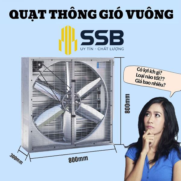 Hướng dẫn lắp đặt Quạt thông gió công nghiệp 800x800x400mm cho nhà xưởng